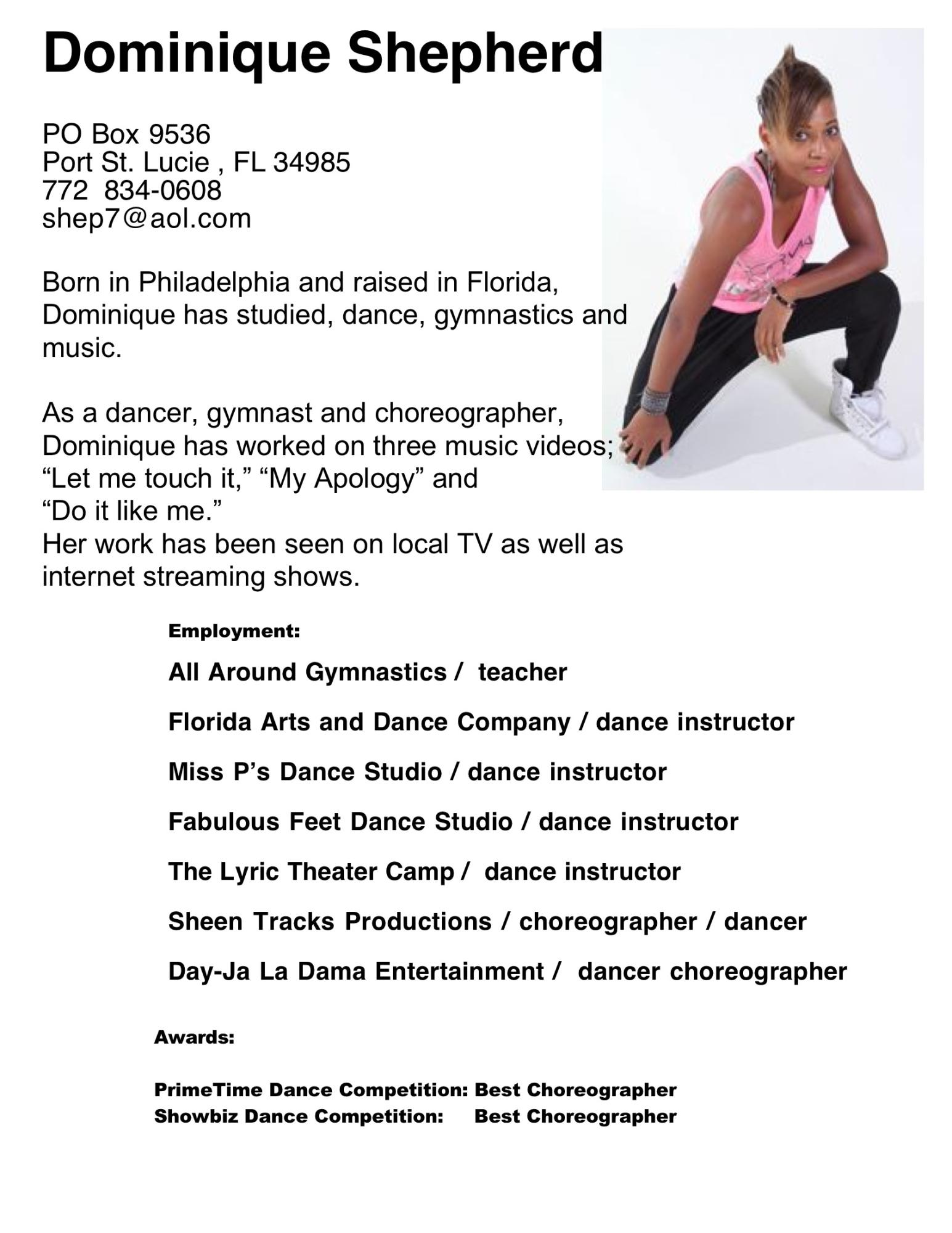 dance    dominique    productions